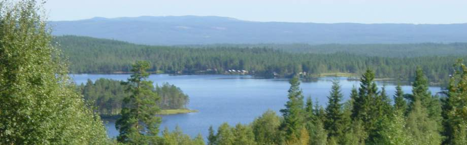 Lake Nissången from the opposite side of the house